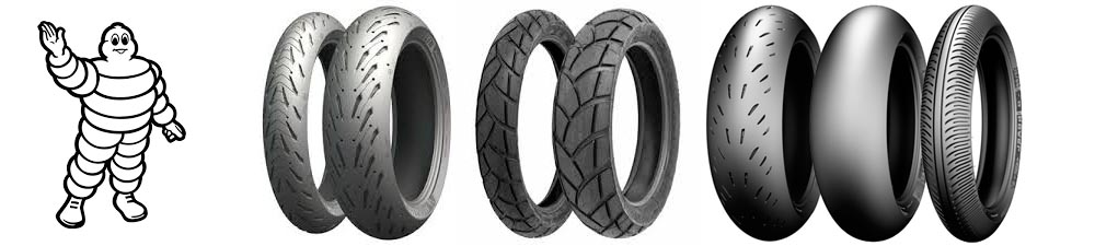 Gran gama de neumaticos Michelin para todos los estilos y tipos de moto